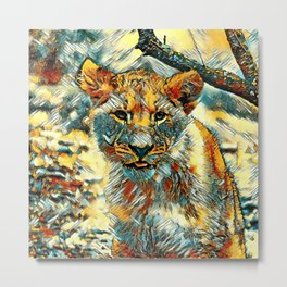 AnimalArt_Lion_20171204_by_JAMColorsSpecial Metal Print