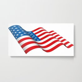 Waving American Flag Metal Print