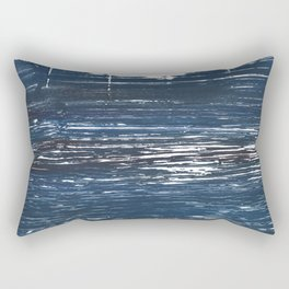 Indigo watercolor Rectangular Pillow