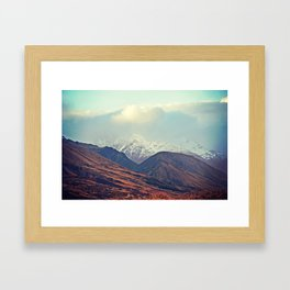 Dusk Descends on the Mountains Framed Art Print