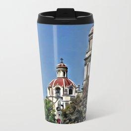 behind trees Travel Mug