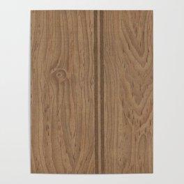 Vintage Wood Panel Poster