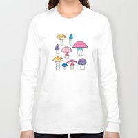 mushroom Long Sleeve T-shirts featuring Mushroom by Elyse Beisser