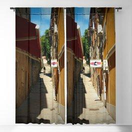 mountain biking stairs pula city croatia europe Blackout Curtain