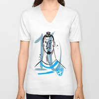 zlatan V-neck T-shirts featuring ZLATAN 10 by AG Abreu