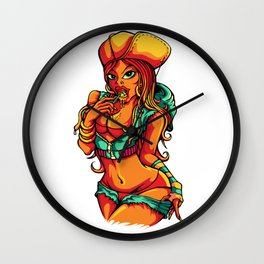 Sexy GIRL WITH Lolipop Wall Clock
