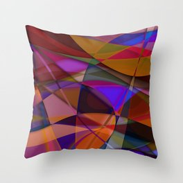 Abstract #376 Throw Pillow