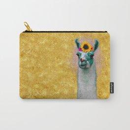 Flower Power Llama Carry-All Pouch