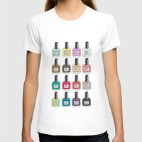 nail polish T-shirts featuring Nail Polish-holic by uzualsunday