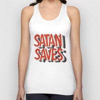 satan Tank Tops featuring Satan Saves by Gabby Schulz