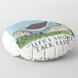 Life's short, talk fast! Floor Pillow