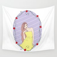 belle Wall Tapestries featuring Belle by Anca Avram