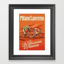 Milan San Remo cycling classic Framed Art Print
