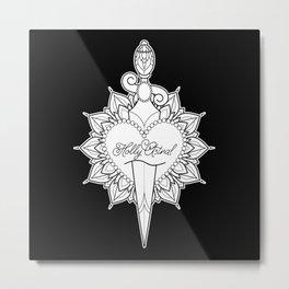 Cut Through the Heart Metal Print