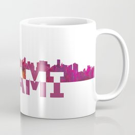 Miami Florida Skyline Silhouette Strong with Text Coffee Mug
