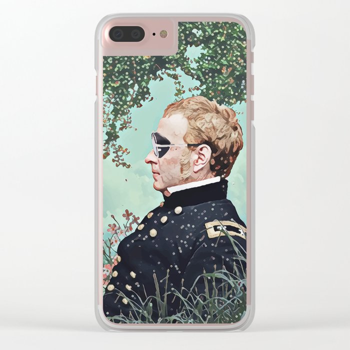 Floral clouds and captain Clear iPhone Case