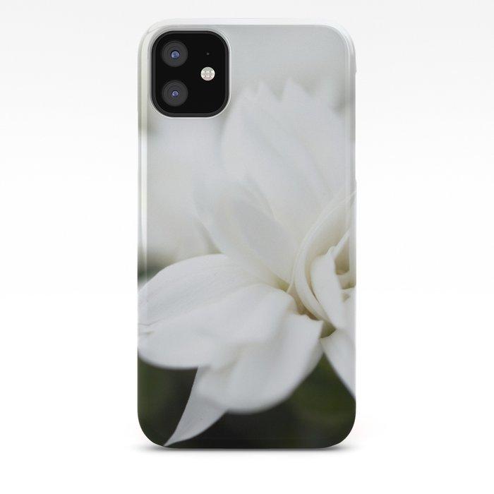 Snow White Flowers on a Dark Background #decor #society6 #buyart iPhone Case