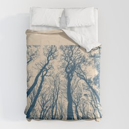 Blue Forest Silhouette Comforters