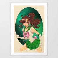 sailor jupiter Art Prints featuring Sailor jupiter by Tae V