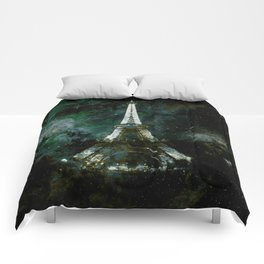 Paris Dreams Dark Green Teal Comforters
