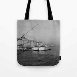 Bosphorus view from Galata Bridge Tote Bag