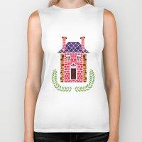 home sweet home Biker Tanks featuring Home Sweet Home by haidishabrina