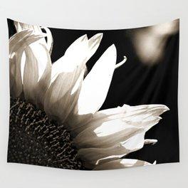Sunflower-B&W Wall Tapestry