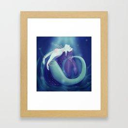Pearl Mermaid Framed Art Print