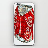 coke iPhone & iPod Skins featuring Pop Coke by StephenHan