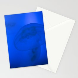Jellyfish in blue Stationery Cards