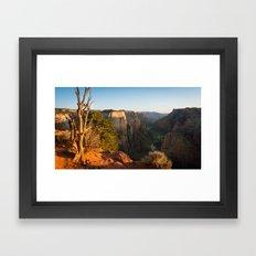 Observation Point Overlook, Zion National Park Framed Art Print