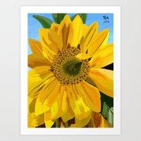 Art Print featuring Sunflower by Raheem Nelson