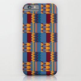 Colorful Kente Pattern Design iPhone Case