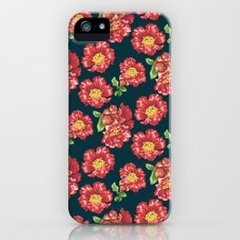 Pomegranate Blooming Flowers iPhone Case