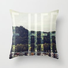 Be Here Throw Pillow