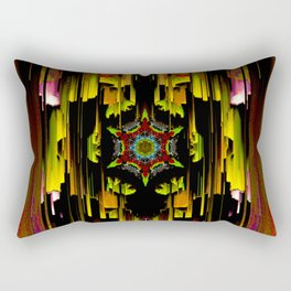 Dark mandala pattern Rectangular Pillow