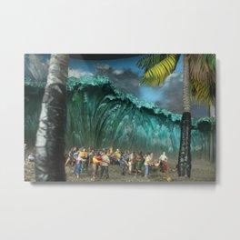 Tsunami Monument Metal Print