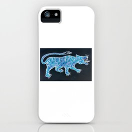 Tiger Blue iPhone Case