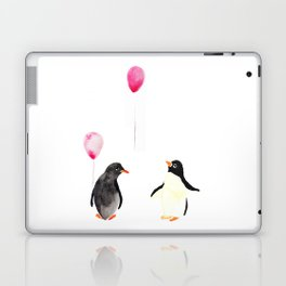 Watercolor Penguins and Balloons Laptop & iPad Skin