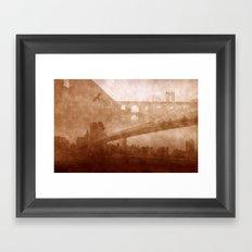 Vintage Bridge 2x Framed Art Print