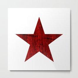 VINTAGE RUSSIAN RED STAR Metal Print