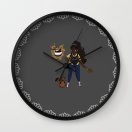 Kitchen Witch'n Wall Clock