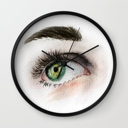 Eye Study in Watercolor 1 Wall Clock