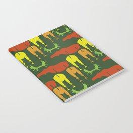 Green Moose Pattern Notebook