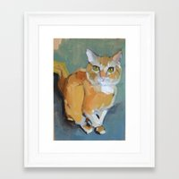 garfield Framed Art Prints featuring Garfield by Suzanna Schlemm