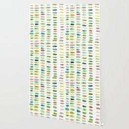 Verdant Brush Lines Wallpaper