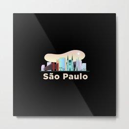 São Paulo, biggest Brazilian city. Metal Print