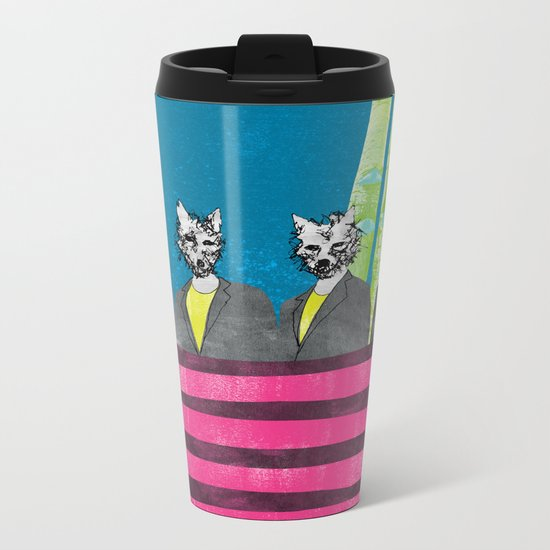 lupi (they are looking at you) Metal Travel Mug