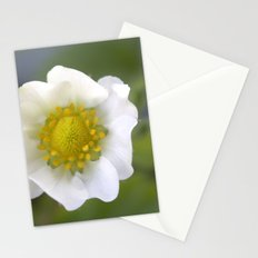 white strawberry flower. floral photo art. Stationery Cards