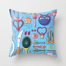 Magical Arsenal Blue Throw Pillow